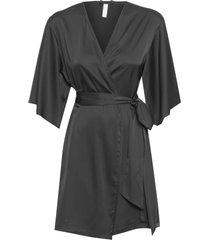 robe curto cetim basic - preto