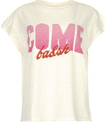 t-shirt met tekstprint coby  naturel