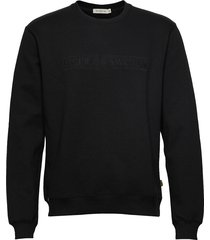tana emb sweat-shirt tröja svart tiger of sweden jeans