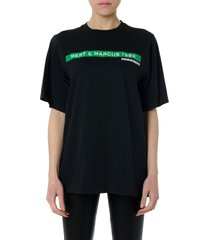dsquared2 black cotton frontal print t-shirt