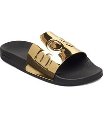 bay_slid_mir shoes summer shoes pool sliders guld boss