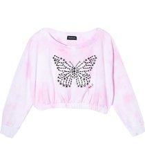 monnalisa pink sweatshirt with print