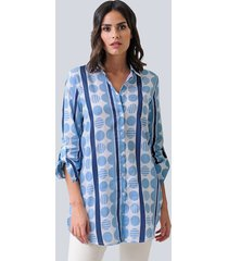 blouse alba moda marine::blauw::wit