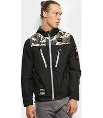 jaqueta fatal com capuz masculina