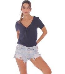 blusa azul oscuro para mujer p49030