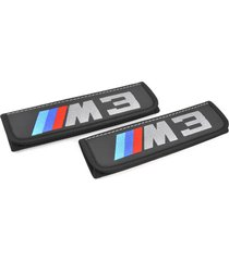 bmw m3 seat belt covers leather shoulder pads interior accessories with emblem