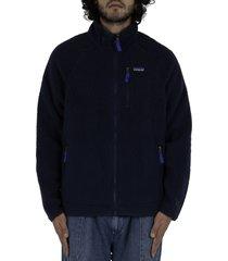 patagonia retro pile jacket - navy