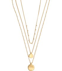 women's madewell coin layered necklace