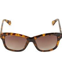 52mm square tortoiseshell sunglasses