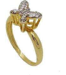 anel borboleta cravejadas