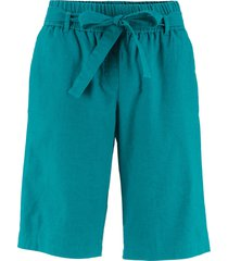 shorts in misto lino con cintura (blu) - bpc bonprix collection