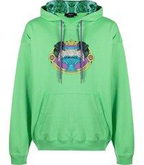 la coupe des dieux embroidered motif hoodie