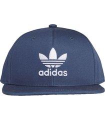 bonés e chapéus adidas trefoil com fecho de pressão azul