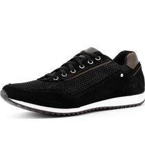 sapatãªnis casual jogger sapatofran confortã¡vel leve preto - preto - masculino - couro - dafiti