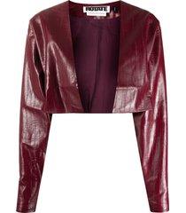 rotate magrit vinyl short jacket - red