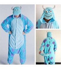 adult monsters university mike wazowski&sulley costume pajamas cosplay