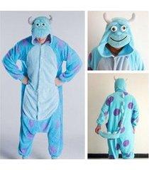 adult monsters university mike wazowski&sulley costume pajamas cosplay