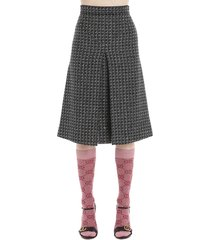 gucci gg graphic skirt