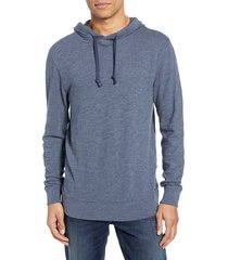 men's faherty slub cotton hoodie, size xx-large - blue