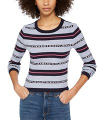 tommy jeans cotton striped sweater