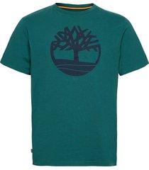 ss k-r brand tree t atlantic deep t-shirts short-sleeved grön timberland