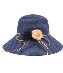 cappello da pescatore da parasole per parasole da spiaggia pieghevole da donna in tinta unita color pesca