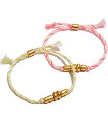 women's madewell set of 2 campcraft friendship bracelets