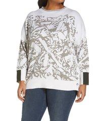plus size women's nic+zoe women's snowbird sweater