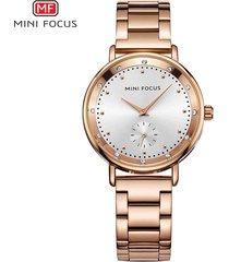 mini focus / 0037l / reloj para mujer / moda / doble-blanco
