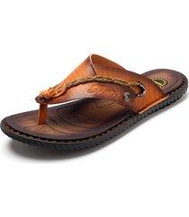 sandali infradito in cuoio