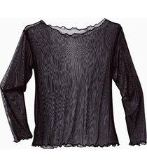 transparant zijden shirt, zwart 40/42