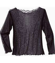 transparant zijden shirt, zwart 36