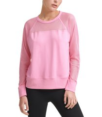 dkny sport mesh-blocked sweatshirt