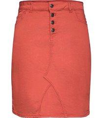 carsarah life skirt kort kjol röd only carmakoma