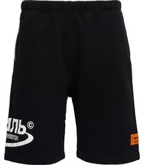 heron preston ctnmb bermuda shorts in black jersey