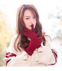 touch screen invernale da donna guanti antivento per esterni plus velluto caldo carino guanti