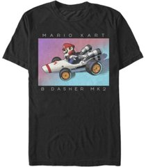 nintendo men's mario kart b dasher mk2 racer short sleeve t-shirt