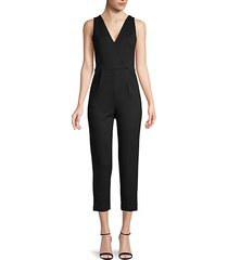 v-neck sleeveless jumpsuit
