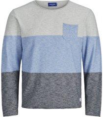 jack & jones men's action knit stripe crewneck sweater