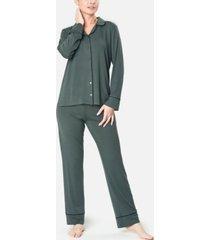 mood pajamas ultra soft notch collar women's pajama set