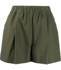 p.a.r.o.s.h. canyon poplin shorts - green
