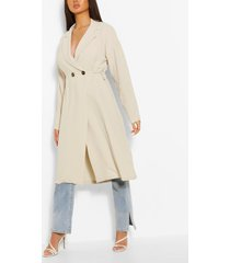 relaxed fit double breasted jacket, stone
