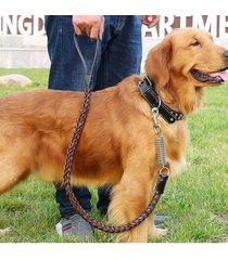 correa de cuero para perros cables para cuerdas medianas y grandes