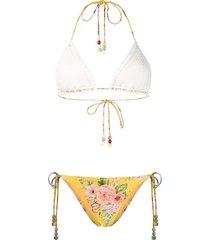 zimmermann allia crochet bikini - yellow