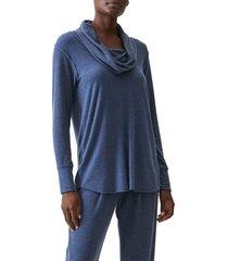 women's michael stars cordelia convertible cowl neck pullover, size x-large - blue