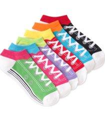 k. bell socks women's sneaker design 6pk ankle socks