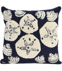 """liora manne frontporch shell toss indoor, outdoor pillow - 18"""" square"""