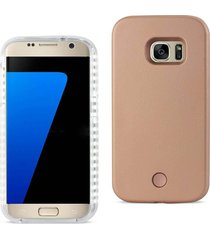 reiko samsung galaxy s7 led selfie light up illuminated case in rose gold