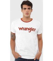 camiseta wrangler logo branca