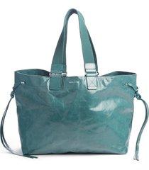 isabel marant wardy leather shopper - green